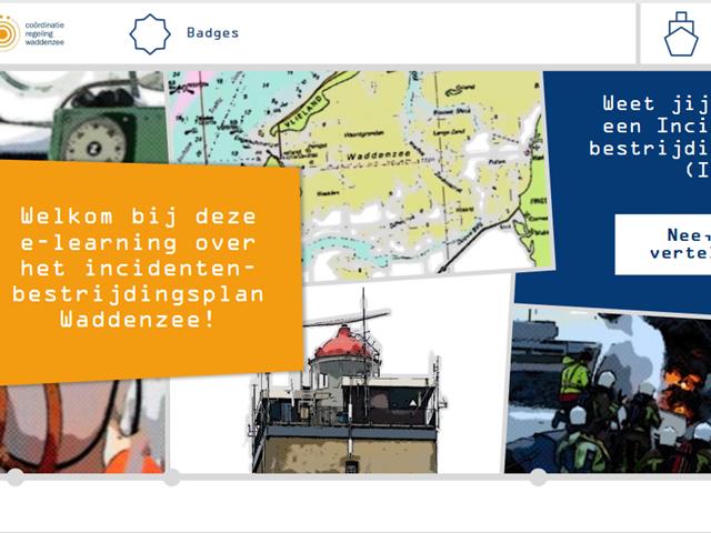 Screenshot van de elektronische leeromgeving van het CRW