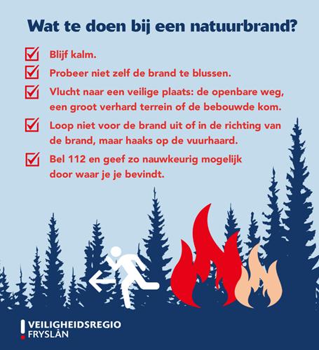 Wat te doen bij een natuurbrand?