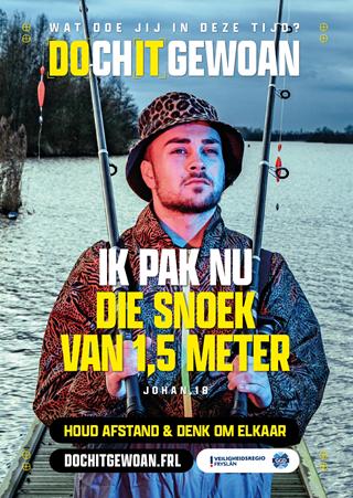 A3 Poster: Ik pak nu die snoek van 1,5 meter.