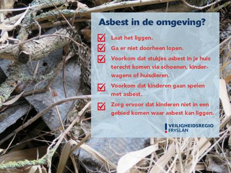 Vijf tips voor bij asbest in de omgeving