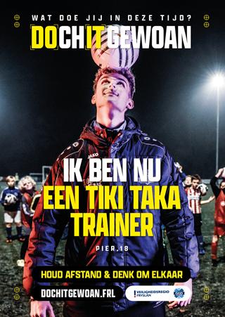 A3 Poster; Ik ben nu een tiki taka trainer.