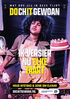 A3 Poster: Ik versier nu elke taart.