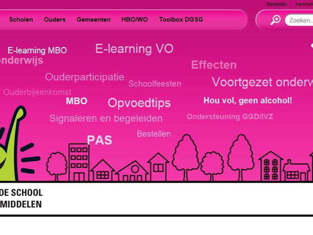 Schermafbeelding de gezonde school en genotmiddelen