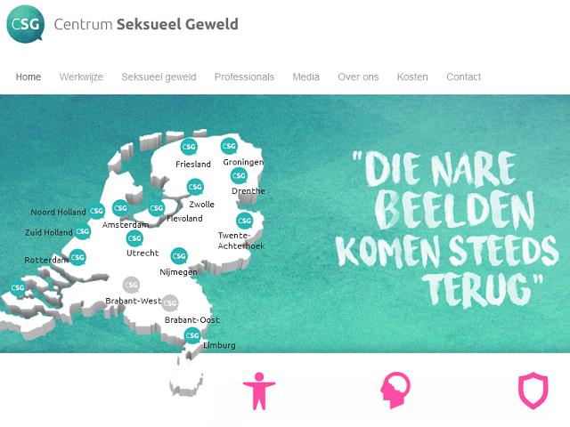 Afbeelding van de Centrum Seksueel Geweld website