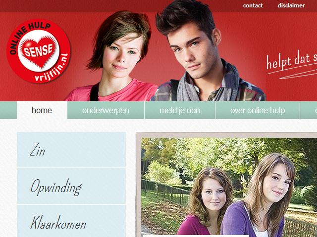 Afbeelding van de Vrij Fijn website