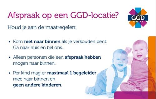 Afspraak op een GGD-locatie, houd je aan de maatregelen